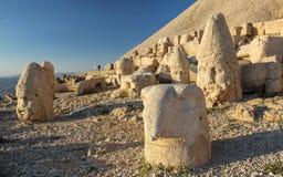 Het nationale park van de Nemrutberg, Adıyaman, Turkije stock foto's