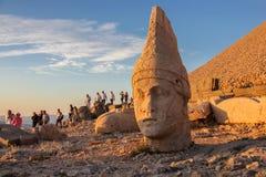 Het nationale park van de Nemrutberg, Adıyaman, Turkije stock foto