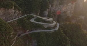 Het Nationale Park van de Tianmenberg stock videobeelden