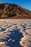 Het Nationale Park van de Vallei van de Dood van het Bassin van Badwater Royalty-vrije Stock Afbeeldingen