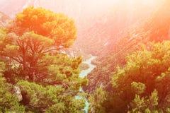Het nationale park van de Verdonkloof, populaire toeristenbestemming in de Provence, Frankrijk royalty-vrije stock afbeelding
