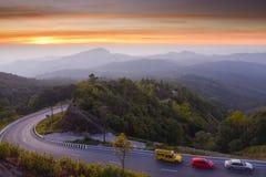 Het Nationale Park van Doiinthanon in de ochtend in Chiang Mai, Thailan stock afbeelding