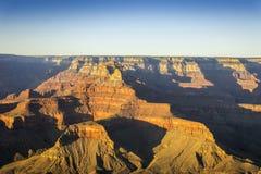 Het Nationale Park van Grand Canyon bij zonsondergang, Arizona, de V.S. Stock Fotografie