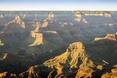 Het Nationale Park van Grand Canyon bij zonsondergang, Arizona, de V.S. Royalty-vrije Stock Foto