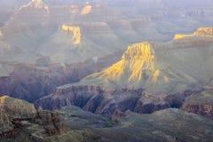 Het Nationale Park van Grand Canyon bij zonsondergang, Arizona, de V.S. Stock Afbeeldingen