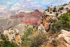 Het Nationale Park van Grand Canyon bij Zuidenrand, Arizona Stock Afbeeldingen