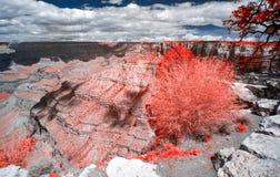 Het Nationale Park van Grand Canyon in Infrared royalty-vrije stock foto
