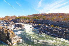 Het Nationale Park van Great Falls in de herfst, Virginia de V.S. Stock Foto