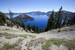 Het Nationale Park van het kratermeer Stock Foto
