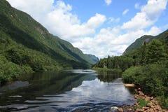 Het nationale park van Jacques Cartier, Quebec, Canada stock afbeeldingen