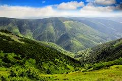 Het Nationale park van Kozi hrbety- Krkonose in Tsjechische republiek stock foto's