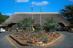 Het Nationale Park van Kruger, poort Malelane Stock Afbeelding
