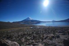 Het nationale Park van Lauca - Chili Royalty-vrije Stock Foto