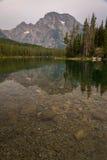 Het Nationale Park van Leigh Lake At The Grand Teton Stock Foto's