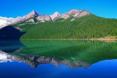 Het Nationale Park van Louise Banff van het meer Stock Afbeeldingen