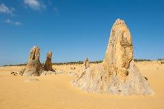 Het Nationale Park van Nambung van woestijntoppen Stock Foto