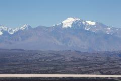 Het Nationale Park van pampagr Leoncito en duidelijke blauwe hemel, Argentinië royalty-vrije stock afbeeldingen