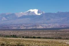 Het Nationale Park van pampagr Leoncito met Aconcagua, Argentinië royalty-vrije stock foto
