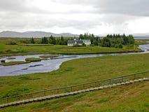 Het Nationale Park van Pingvellir, IJsland stock afbeelding