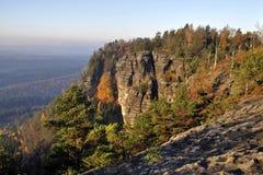 Het nationale park van Saksisch Zwitserland Stock Afbeeldingen