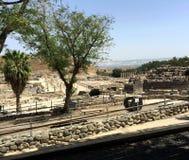 Het Nationale Park van Shean van de weddenschap, Israël stock foto's