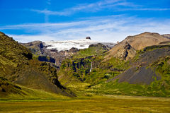 Het Nationale Park van Skaftafell, bergen Stock Afbeelding