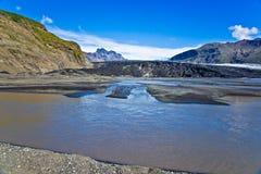 Het Nationale Park van Skaftafell, gletsjer Stock Foto