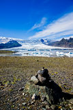 Het Nationale Park van Skaftafell, gletsjer Royalty-vrije Stock Foto's