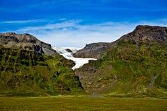 Het Nationale Park van Skaftafell, gletsjer Stock Afbeelding