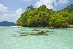 Het nationale park van Surineilanden, Thailand Stock Foto