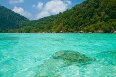 Het nationale park van Surineilanden, Thailand Stock Foto's