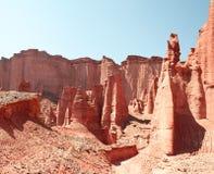 Het nationale park van Talampaya, Argentinië. royalty-vrije stock fotografie