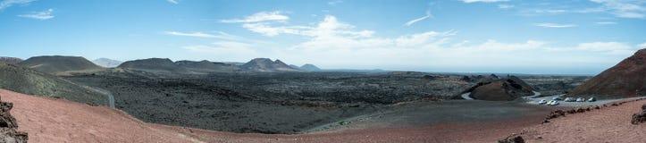 Het nationale park van Timanfaya Stock Foto's
