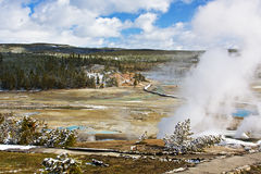 Het Nationale Park van Yellowstone Stock Foto's