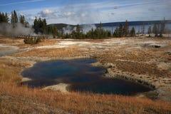 Het Nationale Park van Yellowstone - het Bassin van de Geiser Stock Foto
