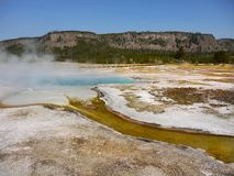 Het Nationale Park van Yellowstone, Wyoming, Verenigde Staten Stock Foto's