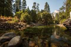 Het Nationale Park van Yosemite, Californië, de V royalty-vrije stock afbeelding