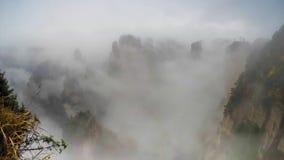 Het nationale park van Zhangjiajie, China Avatar bergen stock footage