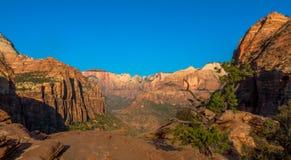 Het nationale park van Zion, UT, de V royalty-vrije stock fotografie
