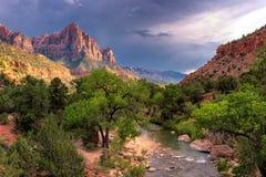 Het Nationale Park van Zion, Utah royalty-vrije stock foto