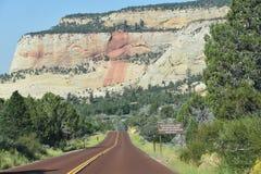 Het Nationale Park van Zion in Utah Stock Foto