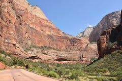 Het Nationale Park van Zion in Utah Stock Afbeeldingen
