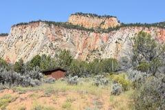 Het Nationale Park van Zion in Utah Stock Foto's