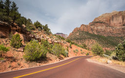 Het Nationale Park van Zion, Utah Stock Afbeelding