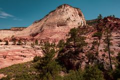 Het Nationale Park van Zion, Utah, de V royalty-vrije stock afbeelding
