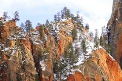 Het Nationale Park van Zion (Utah, de V.S.) royalty-vrije stock fotografie