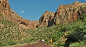 Het Nationale Park van Zion in Utah, de V.S. Royalty-vrije Stock Afbeelding