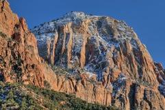 Het Nationale Park van Zion van het Landschap van de winter stock foto's