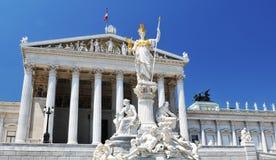 Het nationale Parlement van Oostenrijk, Wenen Stock Foto