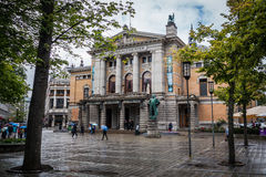 Het nationale theater van Noorwegen stock foto